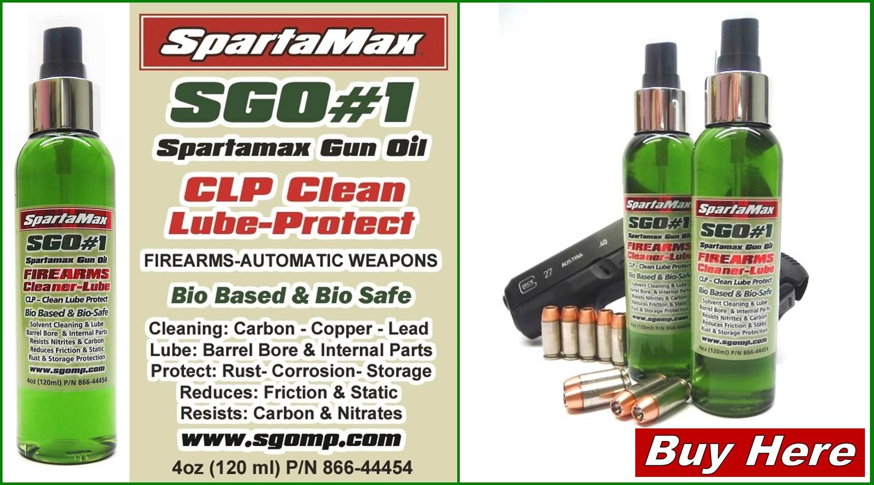 SpartaMax Products - SpartaMax Gun Oil Store & TechData