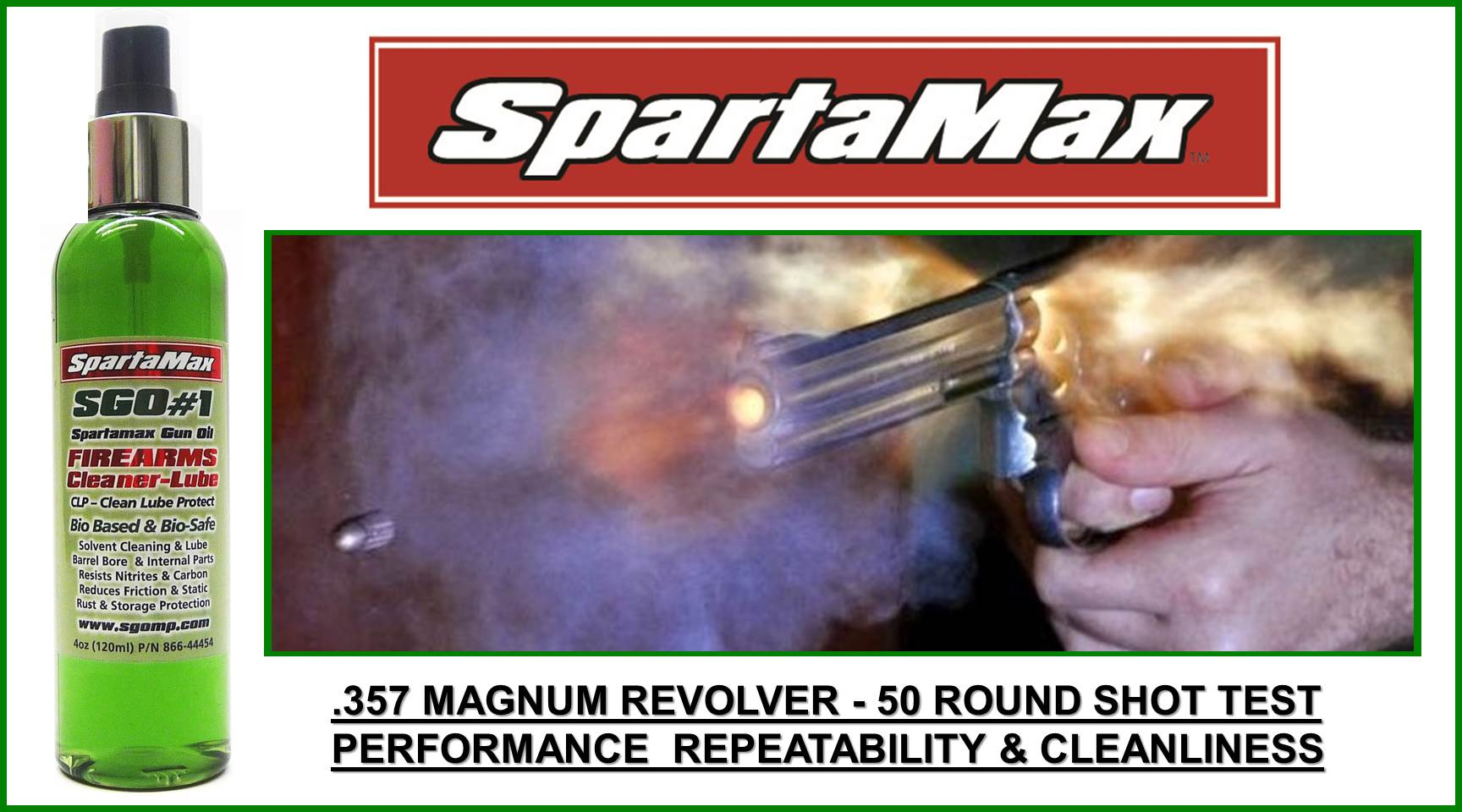 SpartaMax Products - 357 Magnum Pistol T & E     50 Rnd Test
